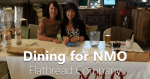 Dining for NMO at Flatbread Company in Providence, Rhode Island.
