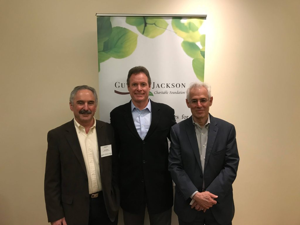 Pictured from left to right: Dr. Gerald Nepom, Director of the Immune Tolerance Network; Michael Yeaman, Chief of the Division Molecular Medicine, Harbor-UCLA Medical Center and GJCF Advisor; Dr. Daniel Rotrosen, NIH Director of the Division of Allergy, Immunology, and Transplantation