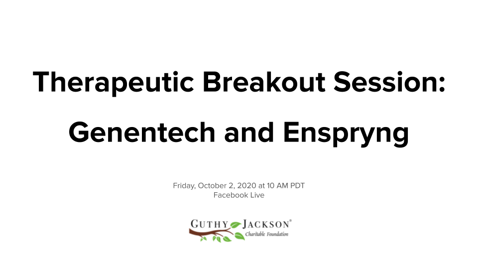 <a href='https://guthyjacksonfoundation.org/videos/therapeutic-breakout-session-enspryng/' title='Therapeutic Breakout Session – ENSPRYNG: now approved for NMOSD in AQP4-IgG(+) adults'>Therapeutic Breakout Session – ENSPRYNG: now approved for NMOSD in AQP4-IgG(+) adults</a>